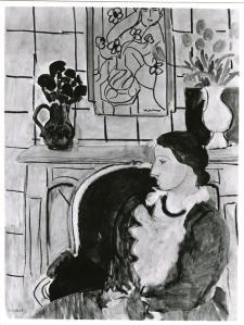 """Fotografia que acompanhava a ficha do quadro """"Blue Dress in an Yellow Arm Chair"""" de Matisse realizada pelo ERR"""